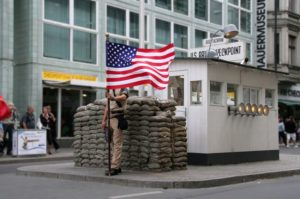 Take a look at Checkpoint Charly on your guided Berlin tour.